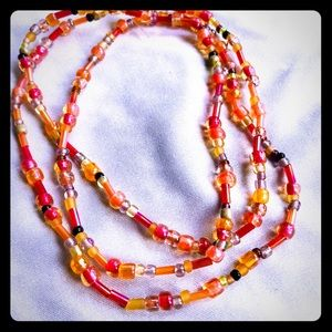 Jewelry - Hand made necklace/bracelet with glass beads.